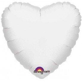 Globo Con Forma de Corazón de Aprox 45cm Color BLANCO -1059501 Anagram