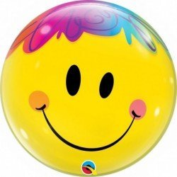 22 pulg. (55,8cm) Single Bubble 01Ct Bright Smile Face (BP)QL-35173 Qualatex