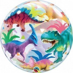 Globo Bubble Dinosaurios de colores de 56 cm aproxQL-13088 Qualatex