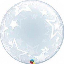 24 pulg. (60,9cm) Deco Bubble 01 Und. Stylish Stars (BP)QL-42671 Qualatex