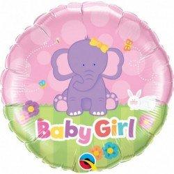 Globo Baby Girl Rosa Tierno Elefante de 45 cm aprox