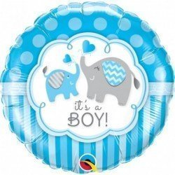 18 pulg. (45,7cm) Rnd 01Ct It'S A Boy Elephants (BP)