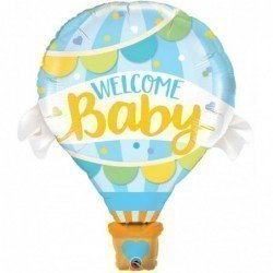 42 pulg. (106,6cm) Shape 01Ct Welcome Baby Blue Balloon (BP)