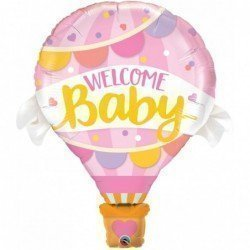 42 pulg. (106,6cm) Shape 01Ct Welcome Baby Pink Balloon (BP)