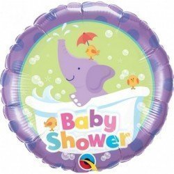 18 pulg. (45,7cm) Rnd 01Ct Baby Shower Elephant (BP)