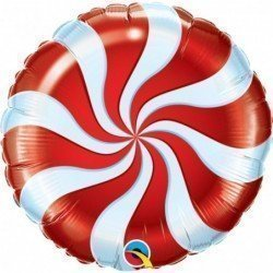 18 pulg. (45,7cm) Rnd 01Ct Candy Swirl Red (BP)