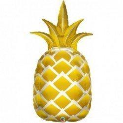 Globo forma Piña dorada de 111 cm aprox