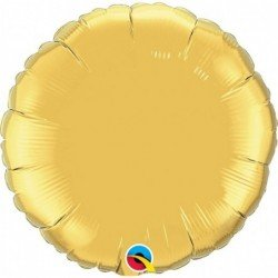 18 pulg. (45,7cm) Rnd 01Ct Metallic Gold Plain Foil (BP)