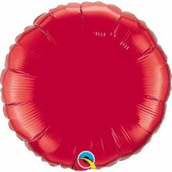 18 pulg. (45,7cm) Rnd 01Ct Ruby Red Plain Foil (BP)