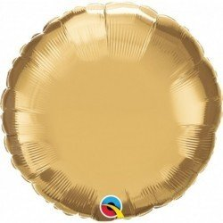 18 pulg. (45,7cm) Globo 01Ct Chrome Gold Plain Foil (BP)