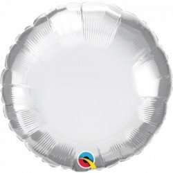 18 pulg. (45,7cm) Globo 01Ct Chrome Silver Plain Foil (BP)