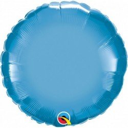 18 pulg. (45,7cm) Globo St Chrome Blue Plain Foil (BP)