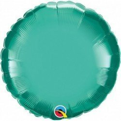 18 pulg. (45,7cm) Globo St Chrome Green Plain Foil (BP)