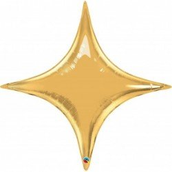 20 pulg. (50,8cm) Shape St Estrellapoint Metallic Gold (BP)QL-22917 Qualatex