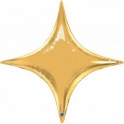 40 pulg. (101,6cm) Shape St Estrellapoint Metallic Gold (BP)QL-15565 Qualatex