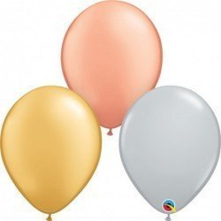 16 pulg. (40,6cm) Globo TriColor Mtlc 50Ct (BP)QL-15774 Qualatex