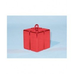 Gift Box Balloon Weight Red (BP)