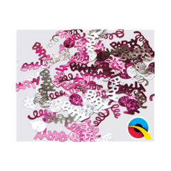 Confetti Party Swirls Pink & Silver (BP)