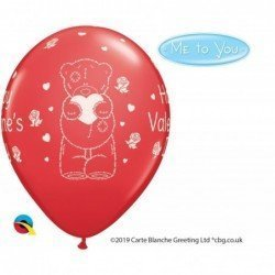 11 pulg. (27,9cm) Rnd Red 25Ct Tatty Teddy Valentine'S Day (BP)QL-12407 Qualatex