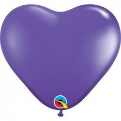 06 pulg. (15,2cm) Hrt Purple Violet 100 Und. Plain Latex (BP)QL-13791 Qualatex