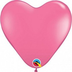 15 pulg. (38,1cm) Hrt Rose 50 Und. Plain Latex (BP)QL-24020 Qualatex
