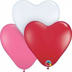 15 pulg. (38,1cm) Hrt Love Ast 50 Und. Plain Latex (BP)QL-24022 Qualatex