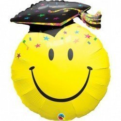 36 pulg. (91,4Cm) Smile Face Shape Dw 01Ct Smile Face Party Grad (BP)QL-40379 Qualatex