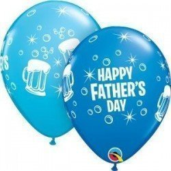 11 pulg. (27,9cm) Rnd Dblue&Robn Egg 25Ct Father'S Day Beer Mug (BP)QL-42691 Qualatex
