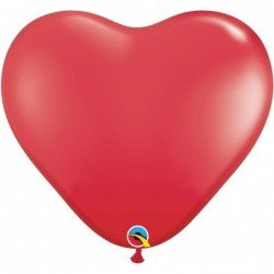 3Ft (91,44cm) Hrt Red 02 Und. Plain Latex (BP)QL-44353 Qualatex