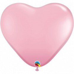 3Ft (91,44cm) Hrt Pink 02 Und. Plain Latex (BP)QL-44445 Qualatex