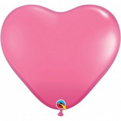 3Ft (91,44cm) Hrt Rose 02 Und. Plain Latex (BP)QL-44482 Qualatex