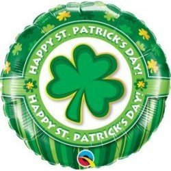 18 pulg. (45,7cm) Rnd 01Ct Happy St. Patrick'S Day! (BP)QL-46056 Qualatex