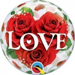 Air Bubbles 10Ct Love Roses (BP)QL-49331 Qualatex