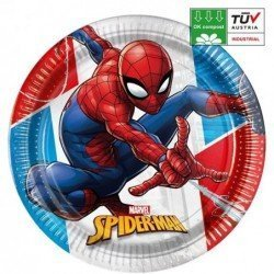 Platos Spiderman Eco biodegradables de 23 cm (8)