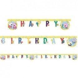 "Guirnalda Peppa pig play ""Happy Birthday"" de 2m. Arpox."