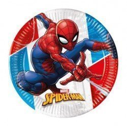 Platos Spiderman Eco Biodegradables de 20 cm (8)