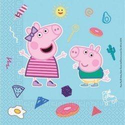 Servilletas Peppa Pig Play Eco Biodegradables 33x33 (20)