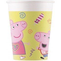 Vasos Peppa pig Play de Carton de 200 ml (8)