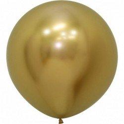 Globos Reflex Dorado R24 de 60 cm Arpox. (10 UD)