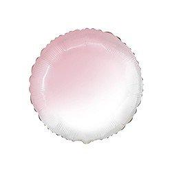 Globo Redondo Degradado Rosa pastel y Blanco de 45 cm Estándar.