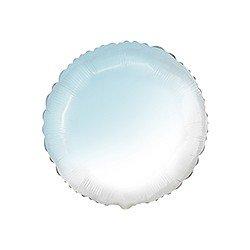 Globo Redondo Degradado Azul pastel y Blanco de 78 cm Ultra