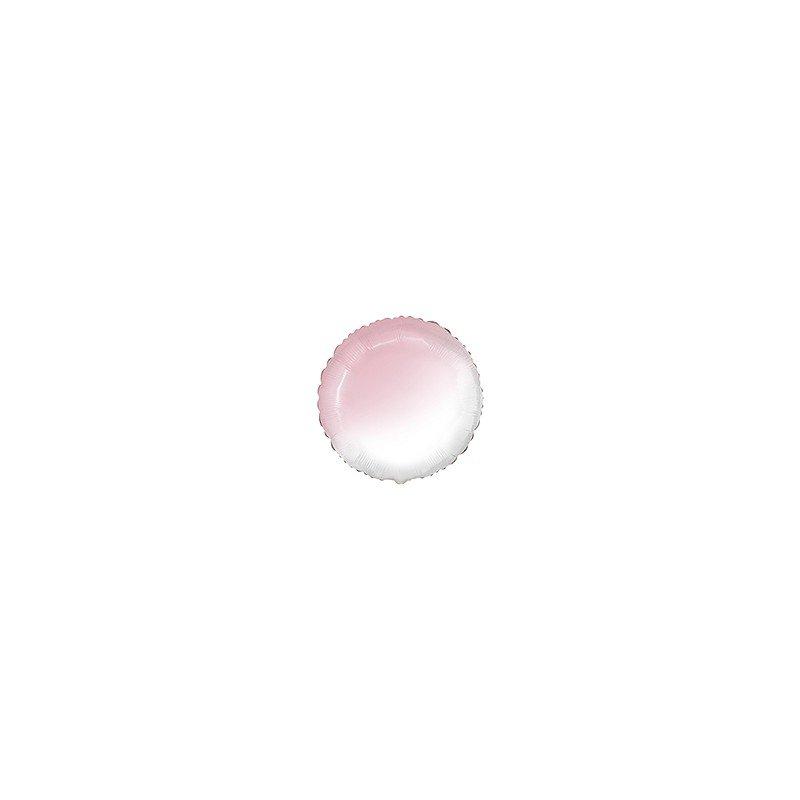Globo Redondo Degradado Rosa pastel y Blanco de 78 cm Ultra