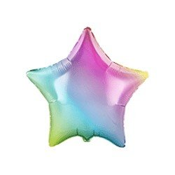 Globo Estrella Colores Degradados de 78 cm Ultra
