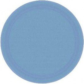 Platos de cartón Azul Pastel grandes (8)