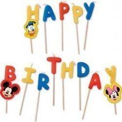 Velas Club disney Happy Birthday de 7 cm Aprox.