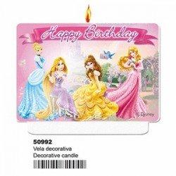 Vela Topper Princesas Disney de 7cm x 9cm