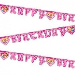 """Guirnalda Princesas Disney """"Happy Birthday"""" de 1,75 m. Arpox."""
