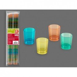 (100 UD.)VASOS CHUPITO 4 COLOR 33 ML REUTILIZABLE(BP)J-272500 JBP