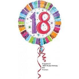 Globo Foil Feliz 18 Cumpleaños Radiante (Empaquetado).1606701 Anagram