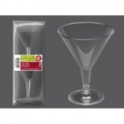 (3 UD.)COPA COCKTAIL TRANSP. 215 ML REUTILIZABLE(BP)J-265200 JBP